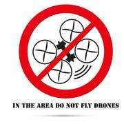 Sign. Forbidden zone for unmanned aerial vehicles - stock illustration