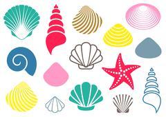 Sea shells Stock Illustration