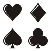 Playing card symbols Stock Illustration