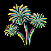 Colorful firework Piirros