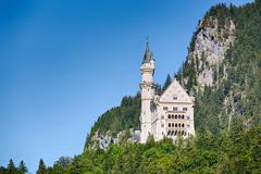 Neuschwanstein Castle - Summer View - stock photo