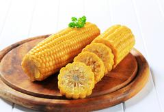 Cooked corn on the cob Stock Photos