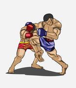 Muay thai. Martial art Stock Illustration