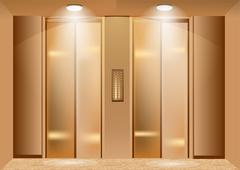 elevator doors - stock illustration