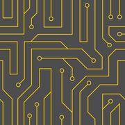 Vector black circuit board background Stock Illustration