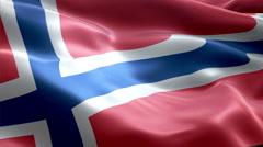 Flag Svalbard - stock footage