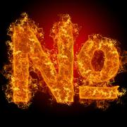 Fire sign number - stock photo