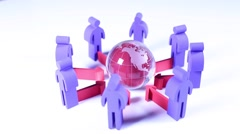 Teamwork, people and icons Stock Footage