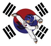 Stock Illustration of Taekwondo. Martial art