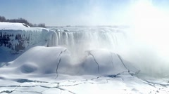 Niagara Falls TheFalls winter 09svv Stock Footage