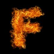 Fire letter F Stock Photos