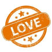 Love grunge icon Stock Illustration