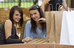 afternoon shopping - stock photo