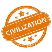 Civilization grunge icon - stock illustration