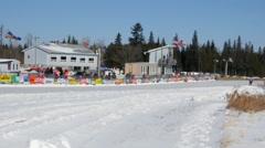 Snowmobile Racing Stock Footage