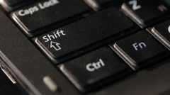 Computer keyboard keys melted high temperature. Shift Ctrl Fn Caps Lock in shot - stock footage