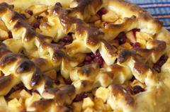 Homemade apple pie close up Stock Photos
