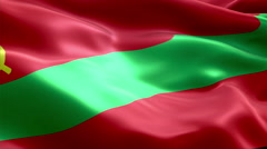 Flag Transnistria Stock Footage