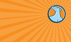 Stock Illustration of Business card Greyhound Dog Head Looking Up Cartoon