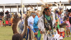Traditional pow wow dancing Stock Footage