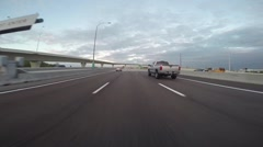 Driving during Rush Hour into Downtown Tampa Stock Footage
