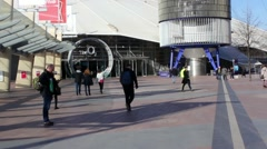 O2 Arena entrance, London Stock Footage