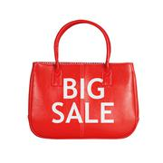 Sale bag design element isolated on white - stock photo