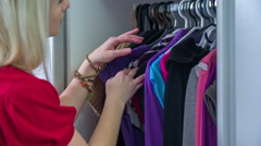 What I have in a closet  - stock footage