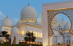 Stock Photo of Sheikh Zayed Mosque, Abu Dhabi, UAE