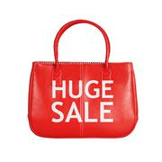 Stock Photo of Sale bag design element isolated on white