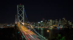 HD San Francisco Bay Bridge Timelapse 2 Stock Footage