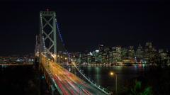 4K Bay Bridge And Downtown San Francisco Timelapse 2 Stock Footage