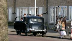 Scene Anne Frank film on street Amsterdam Stock Footage
