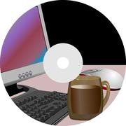 Stock Illustration of abstract cover cd (vector illustration)