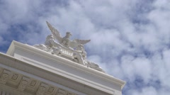 California capitol with eagel Stock Footage