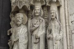 Chartres cathedral - stock photo