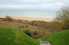 Stock Photo of Omaha Beach in  Colleville sur Mer in Normandy