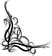 beautiful floral corner - stock illustration