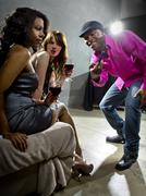 Sexual Harassment at a Nightclub Stock Photos