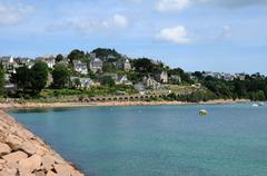 France, the city of Perros Guirec Stock Photos