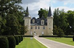 The castle of Agassac in Gironde Stock Photos