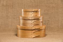 Three Hand Made Shaker Boxes - stock photo