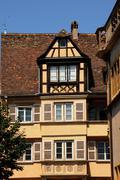 France, Alsace, renaissance house in Colmar - stock photo