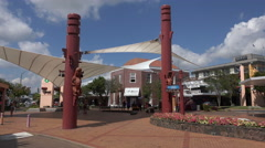 Town centre, Rotorua, North Island, New Zealand Stock Footage