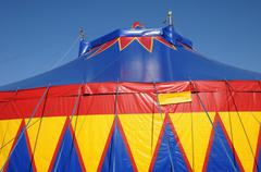 France, a colorful circus tent Stock Photos