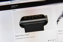 Apple launches Apple Watch, MacBook Retina and Medical Research App Stock Photos