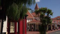 Rotorua information and travel office, North Island, New Zealand - stock footage