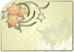 Floral background. - stock illustration