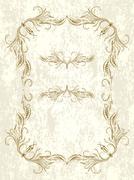Decorative vintage frame. - stock illustration