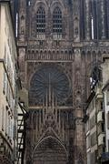 Stock Photo of France, cathedral of Strasbourg in Alsace